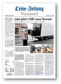 Leine-Zeitung Wunstorf vom 8. 11.2016